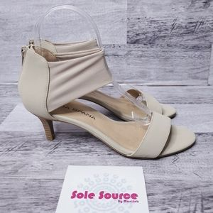 Moda Spana Meg Nude Mesh sandals beige sz 8